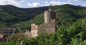 Château de Kaysersberg côté vignoble
