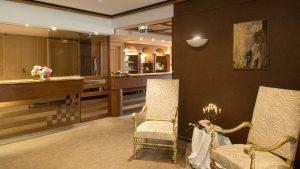 Réception de l'hôtel les Remparts 4 rue de la Fleih à Kaysersberg