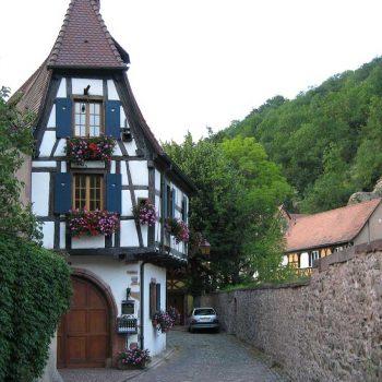 Maison à colombages au centre de Kaysersberg