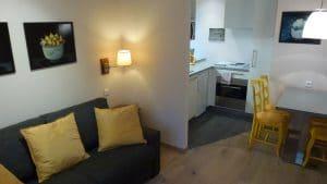 Salon de l'appartement n°56 Lisbeth aux Loges les Remparts à Kaysersberg