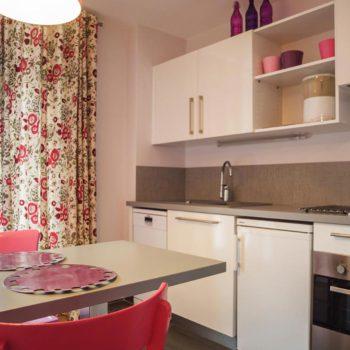 Cuisine de l'appartement Uschen n°51 Loges les Remparts à kaysersberg