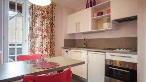 Cuisine de l'appartement n°51 Uschen Loges les Remparts à Kaysersberg
