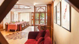 Salle à Manger de l'annexe les Terrasses à l'hôtel les Remparts à Kaysersberg