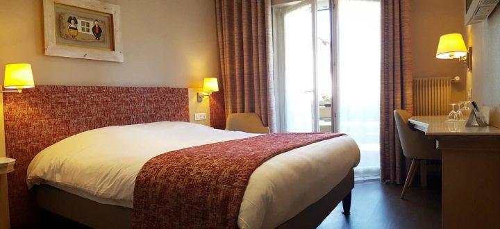 Chambre Double avec balcon n°11 à l'hôtel les Remparts à Kaysersberg
